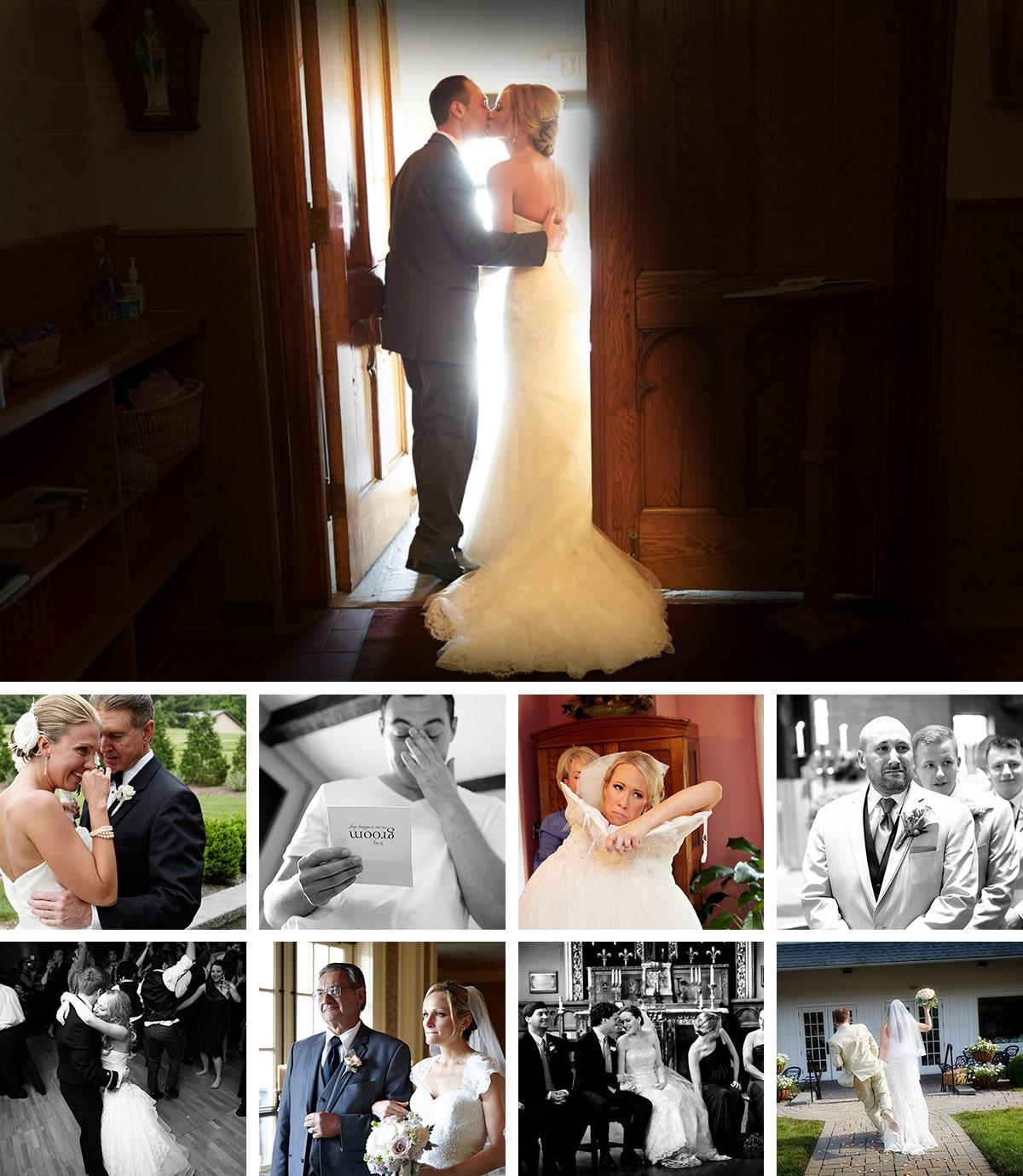 emotional wedding day moment photos
